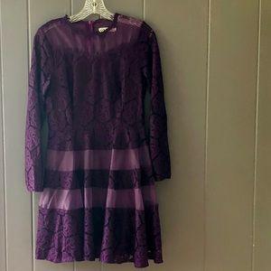 Dresses & Skirts - Royal purple lace cocktail dress